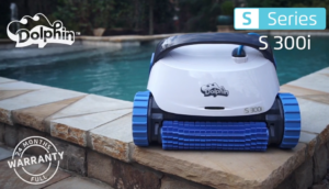 The Dolphin Premium S300i robotic pool cleaner has a slew of great features! (Pictured: Dolphin S300i pool cleaner)