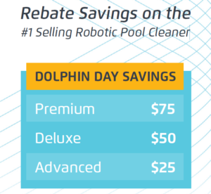 The choice is yours. Pick from Maytronics' Premium, Deluxe or Advanced Dolphin robot lines. (Pictured: Savings grid)