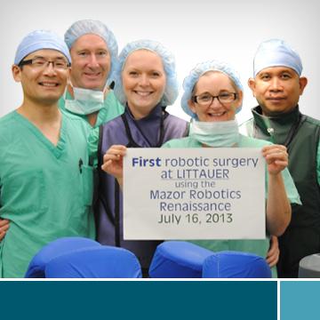 First-Robotic-Surgery-At-Littauer