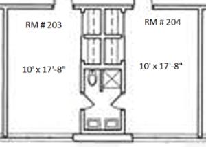 RH room floor plan - 5052 Great Commission Dr.