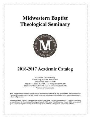 2015-2016 Midwestern Seminary Academic Catalog
