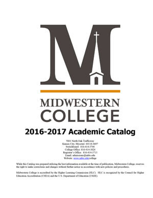 Midwestern College 2015-2016 Academic Catalog