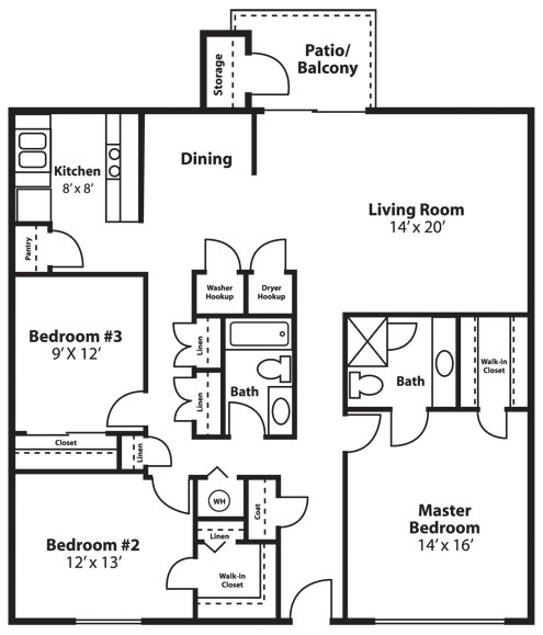 3 Bed 2 Bath 1600 Sq Ft Turnbury Apartments Apartments In Clearwater Florida Mckinley