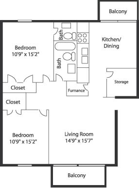 2 Bed 1 5 Bath 900 Sq Ft Champaign House