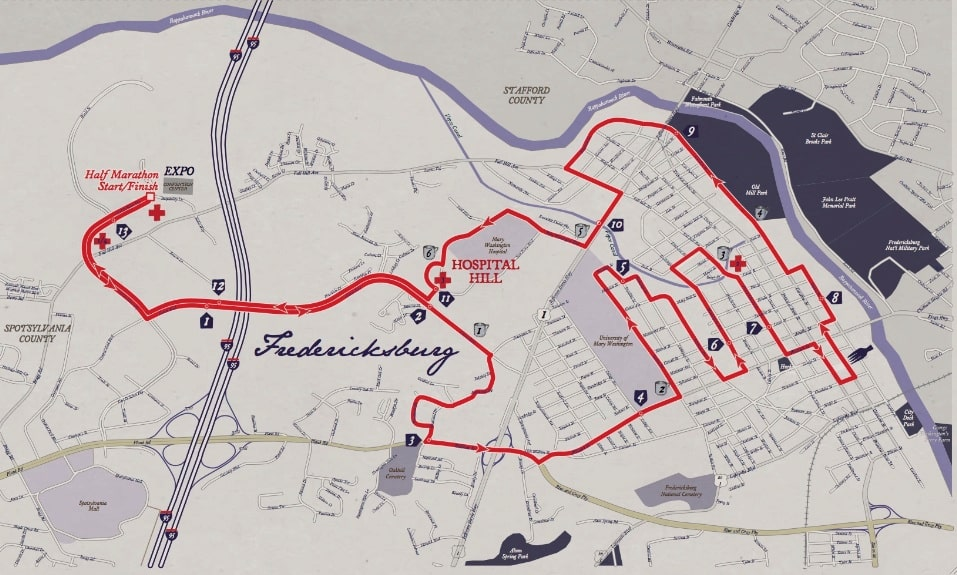 Course Maps - Historic Half