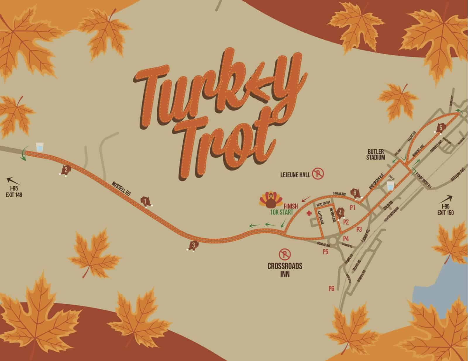 Course Map - Turkey Trot