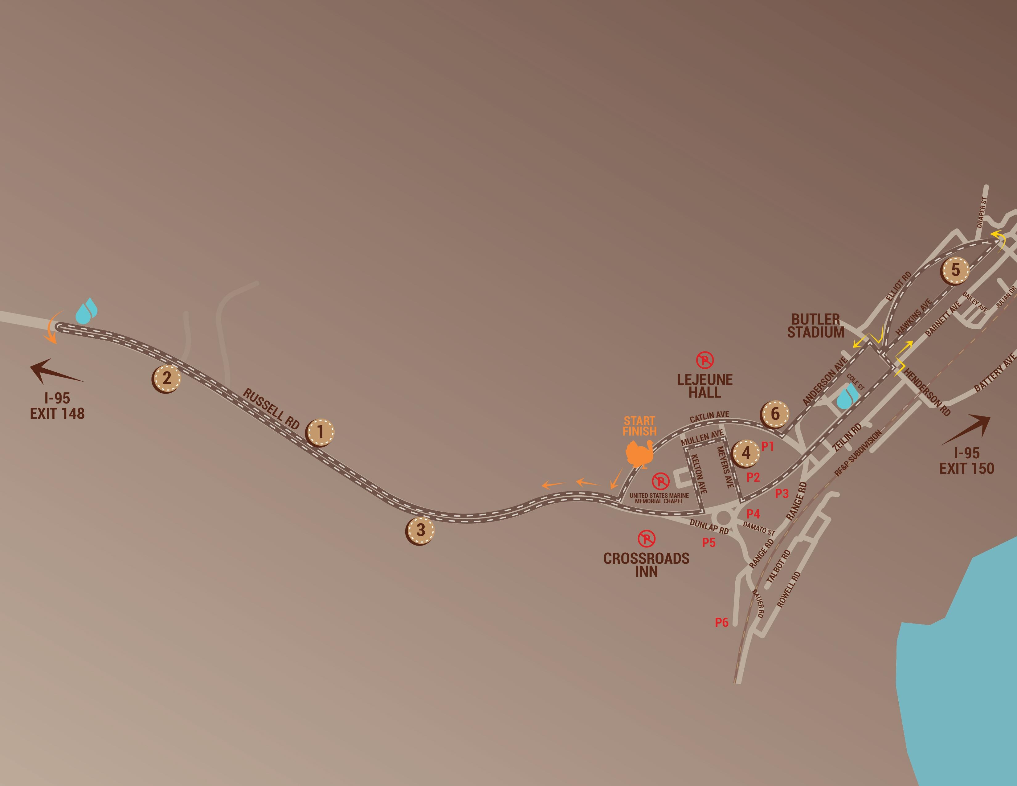 Course Map - Turkey Trot