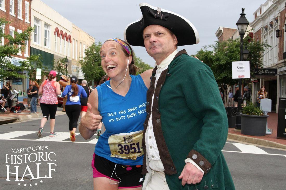 Historic Half runner and re-enactor