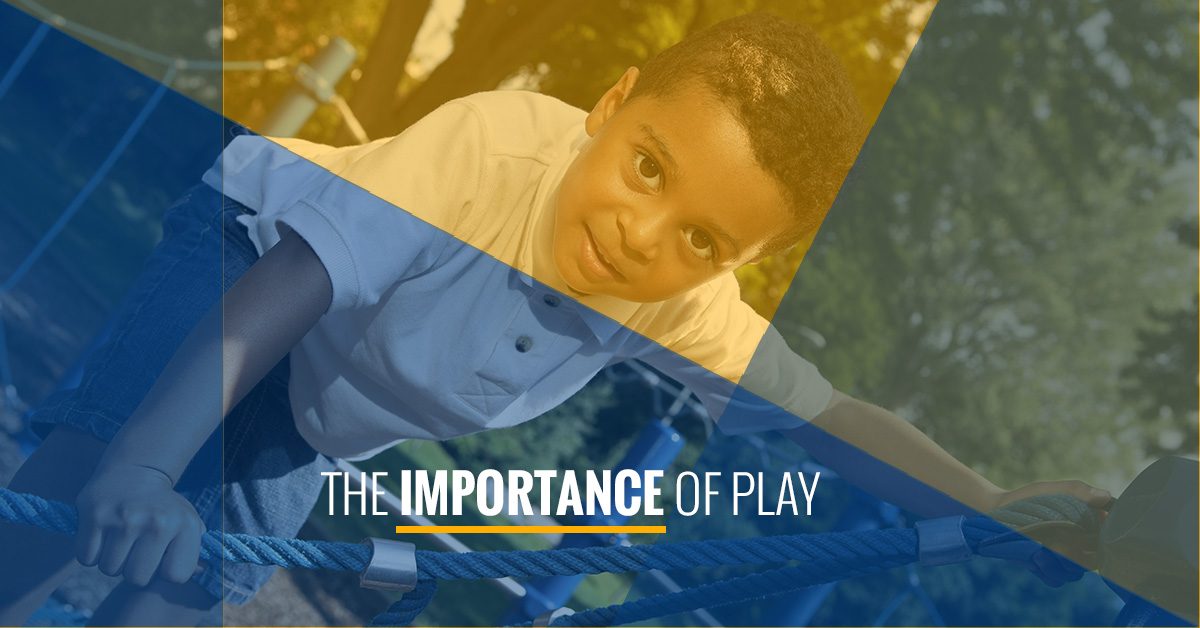"the importance of play in early Using play as a tool to teach in the early childhood classroom will bring a wholistic approach to the content and will help develop every part of each child "" play allows children to use their creativity while developing their imagination, dexterity, and physical, cognitive, and emotional strength."