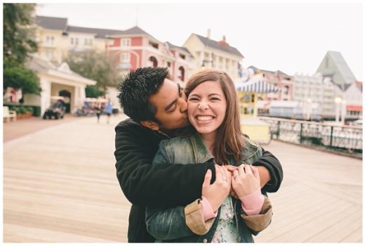 Disney's BoardWalk Engagement Photos: Genna + Neil