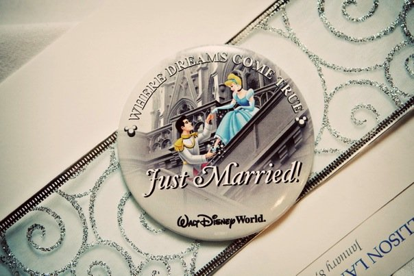 Disney Just Married Button