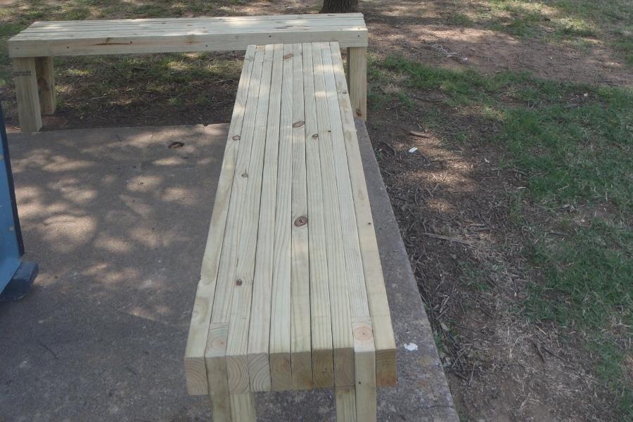 Butcher block bench