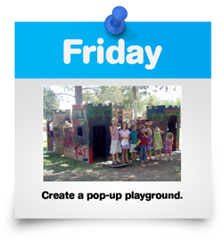 Create a pop-up playground