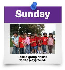 Take a group of kids to the playground