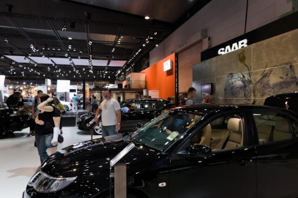 Saab stand, Melbourne Motor Show