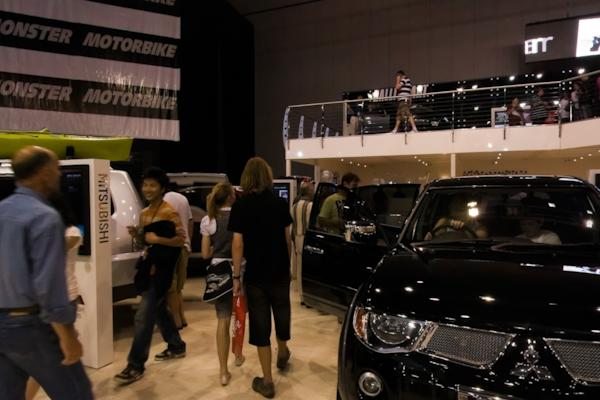Mitsubishi stand, Melbourne Motor Show