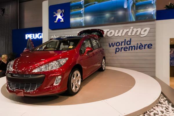 Peugeot stand, Melbourne Motor Show