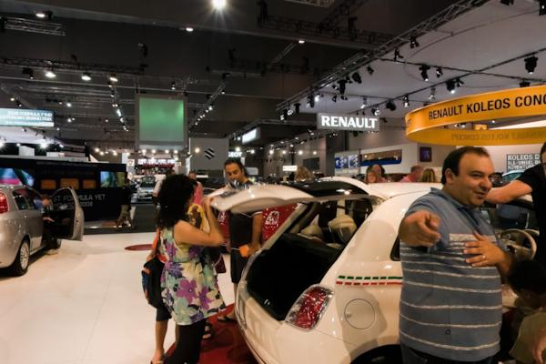 Fiat stand, Melbourne Motor Show