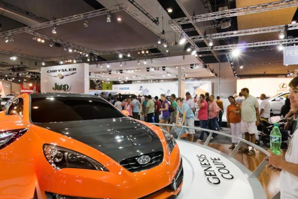Hyundai stand, Melbourne Motor Show