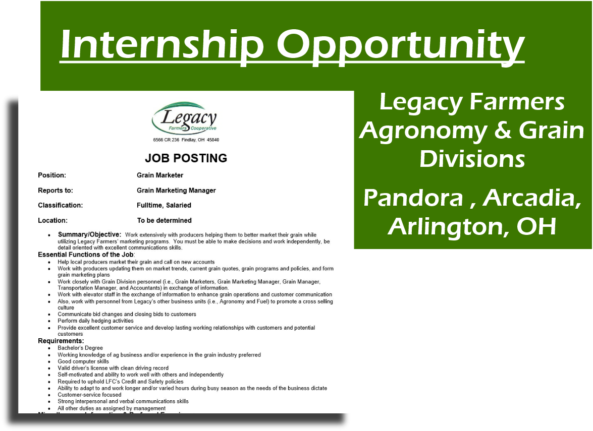 Legacy Farmers Cooperative - Legacy: Employment Opportunities