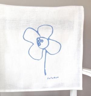 Flower Tea Towel