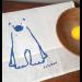 Polar Bear Cub Tea Towel
