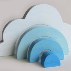 Small Wooden Cloud Stacker
