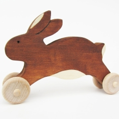 Wooden Push Bunny