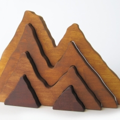 Large Wooden Mountain Stacker