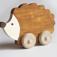 Wooden Hedgehog Push Toy