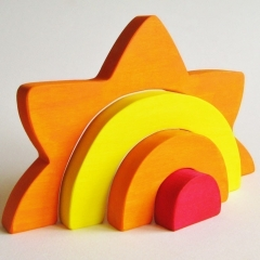 Large Wooden Sun Stacker