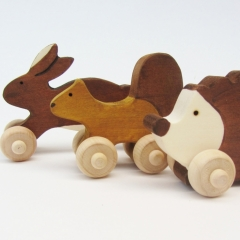 Woodland Mini Push Animal Set