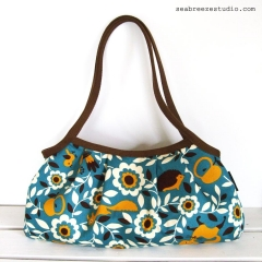 Granny bag - Forest animals in aqua