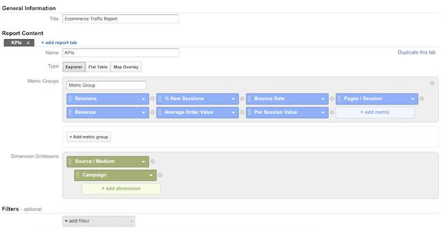 google-analytics-custom-report-selection