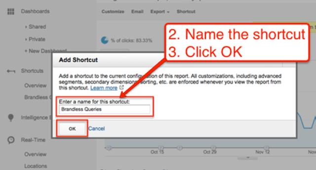 google-analytics-shortcut-name