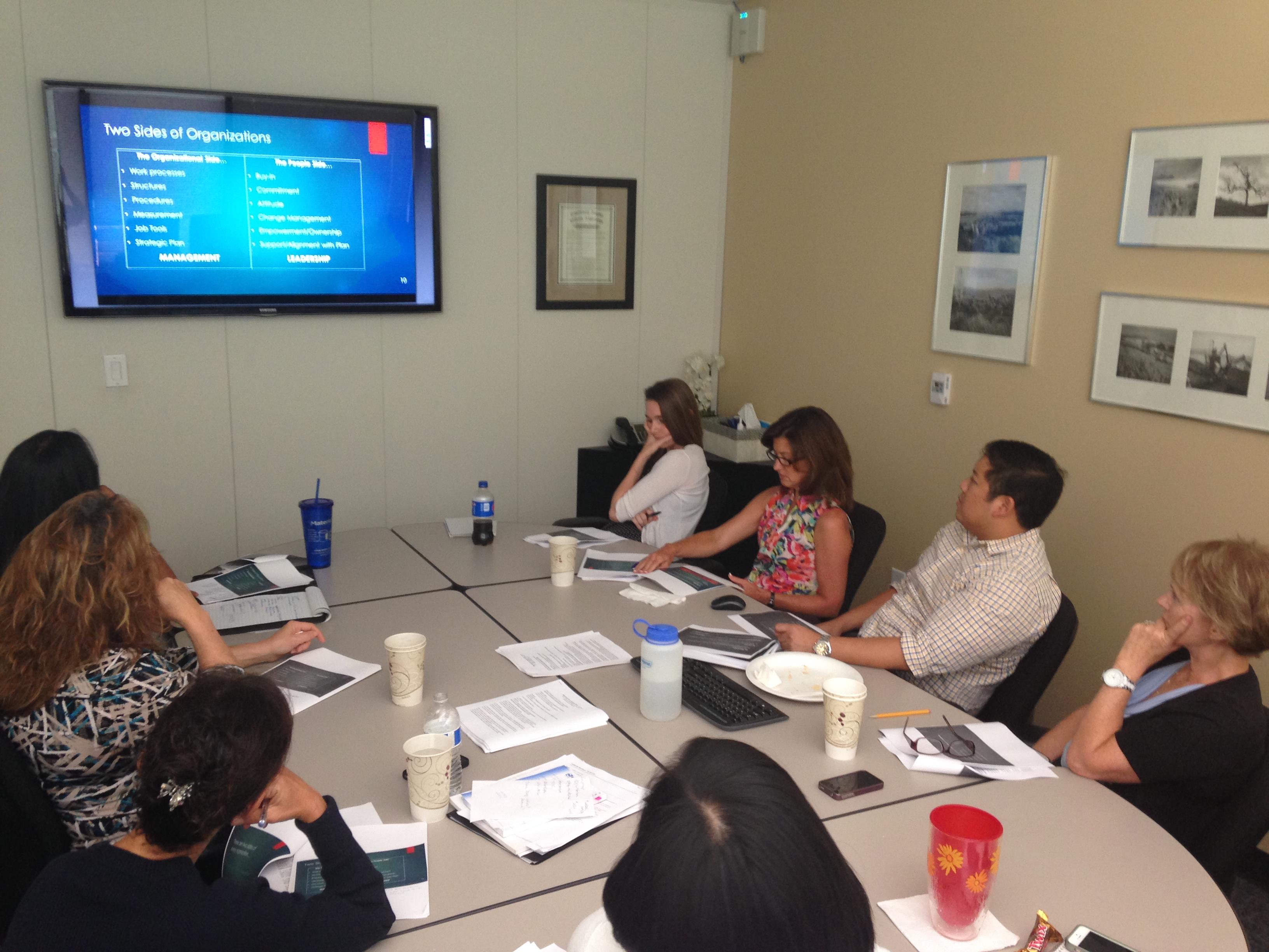 Group learning from webinars