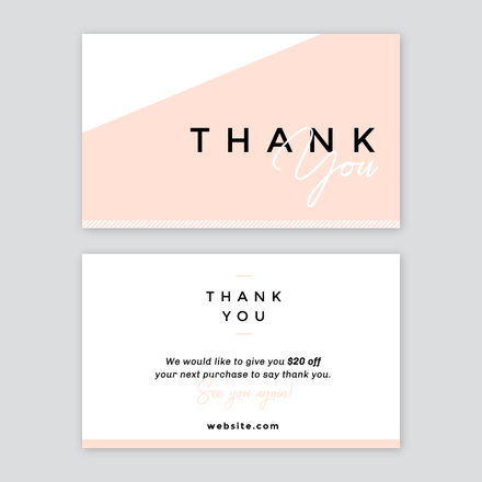 abstract thank you card