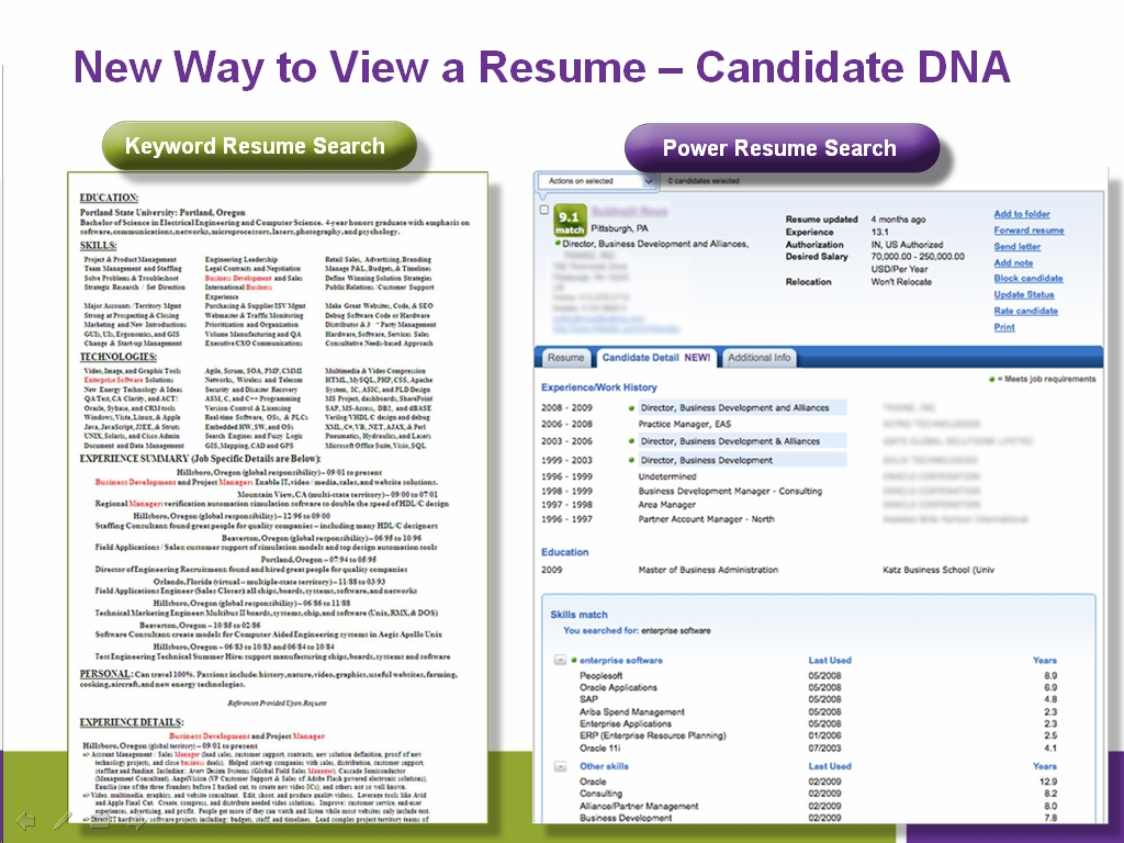 Search resume for free