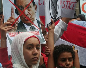 Egypt Uprising solidarity protest Melbourne 4 Feb 2011