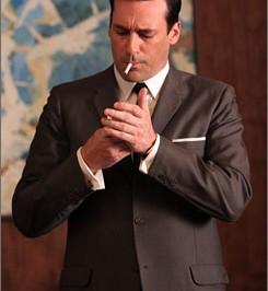 don-draper-brown-suit-smoking