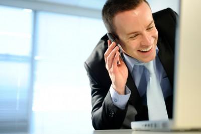 business man on telephone