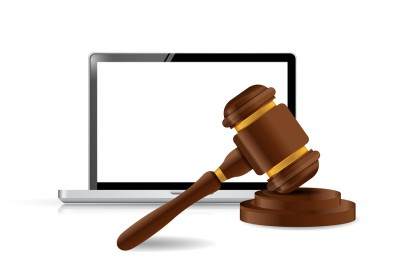 Laptop Internet Law Concept Illustration