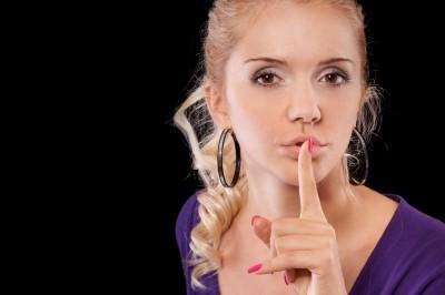 Shut up keep quiet