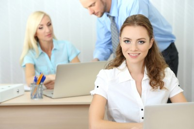 Office workers in workplace dress code