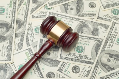gavel and money lawsuit