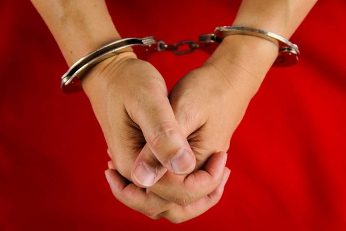 Handcuffed crime