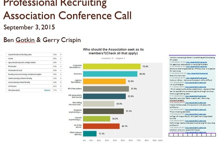 Professional recruiter association