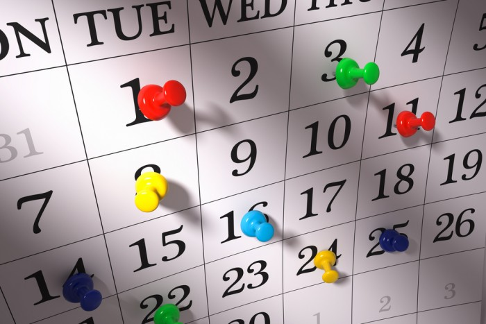 sendouts schedule