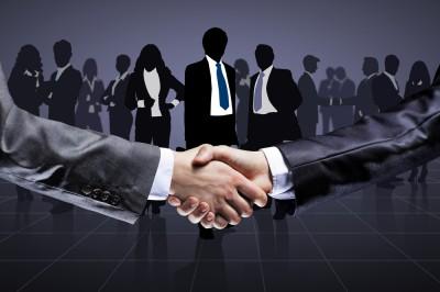 sales handshake concept