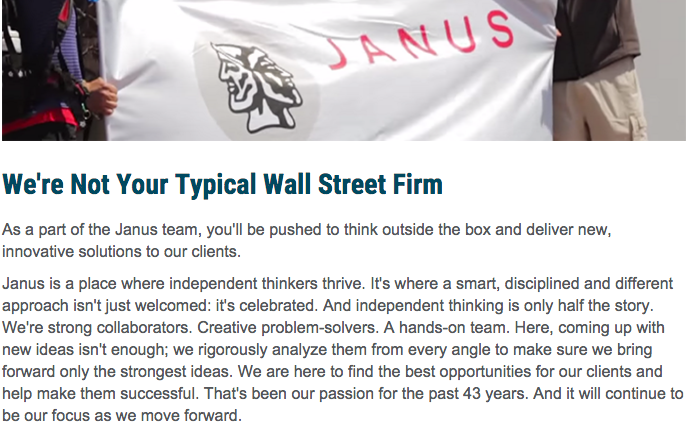 We're not your typical Wall Street firm